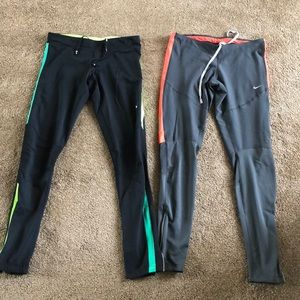 (2) Nike Dry Fit Running Spandex